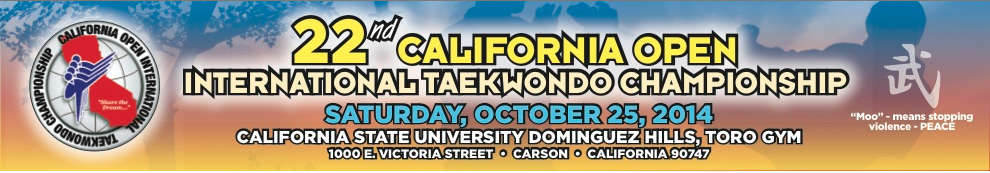 Ca Open Tae Kwon Do Championship Amp Tournament Sparring border=